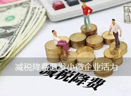 减税降费激发小微企业活力专家建议今年更加细化制度性安排